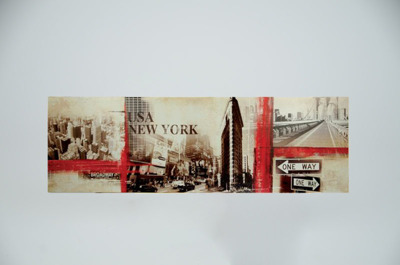 Tavla Canvas New York Red -