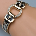 Silverleopard på guldfärg