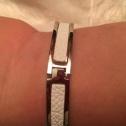 Bältesarmband silverfärg Vit