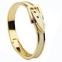 Bältesarmband på guldfärg Vit - Silver på guldfärg