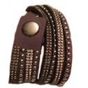 Armband nitar å bling Brunt långt - dubbelt