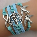 Peace and love armband