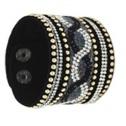 Armband xtra bred svart enkelt - Armband xtra bred svart 160025