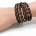 Armband nitar å bling Svart långt - dubbelt