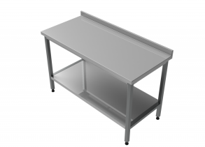 Rostfri arbetsbänk med bakkant 160 cm - Rostfri arbetsbänk med bakkant 160 cm