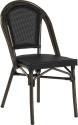 Paris stol, svart textylene