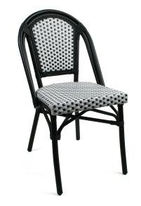 Paris stol, svartvit ruta - ruta