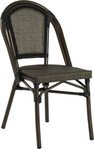 Paris stol, svart/ brun textylene - Paris stol, svart/ brun textylene