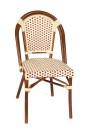 Paris stol, vinröd/ creme