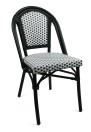 Paris stol, svartvit ruta