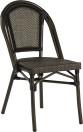 Paris stol, svart/ brun textylene