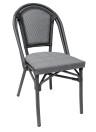 Paris stol, grå/ svartvit