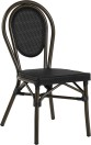 Rennes stol, svart textylene