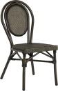 Rennes stol, svart/ brun textylene