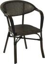 Monaco karmstol, svart/ brun textylene