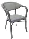 Monaco karmstol, grå/ svartvit