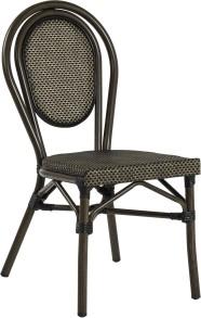 Rennes stol, svart/ brun textylene - Rennes stol, svart/ brun textylene