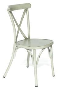 Boulogne stol, vintage vit - Boulogne stol, vintage vit