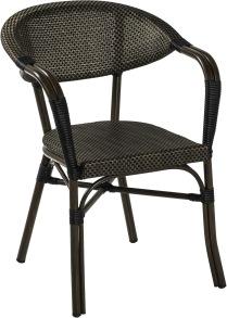 Monaco karmstol, svart/ brun textylene - Monaco karmstol, svart/ brun textylene