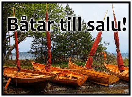 Träbåtar till salu