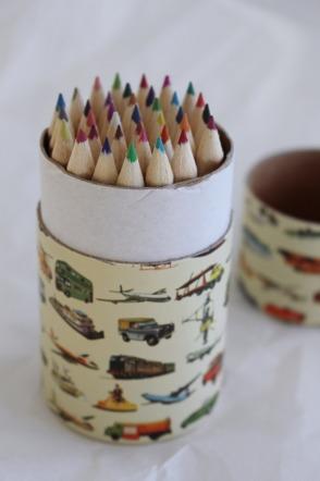 Färgpennor vintagebilar