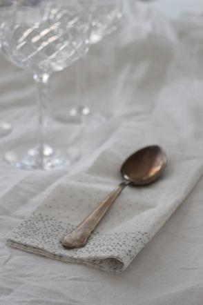 Servett silverprick TINE K