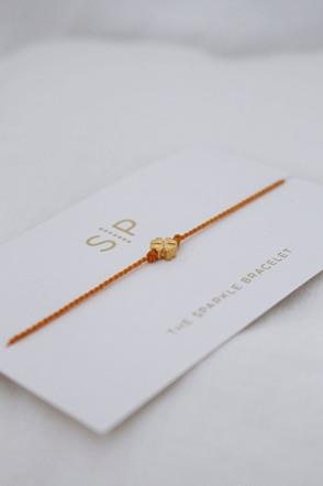 Sparkle bracelet Orange clover SYSTER P