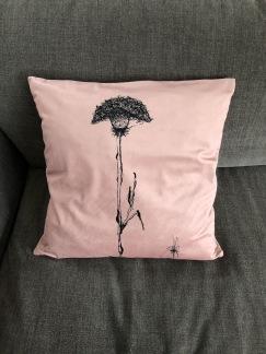 Kuddfodral sammet pastellrosa - Kuddfodral i sammet 100% (50x50) Pastell rosa, puderrosa