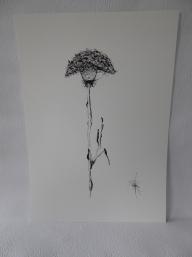 Konsttryck/ prints. Blomma
