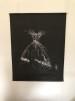 Väggbonad - Väggbonad konsttryck (70x90) linnetyg. svart med vitt konsttryck