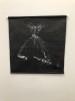 Väggbonad - Väggbonad Konsttryck (45x45) linnetyg svart med vitt konsttryck