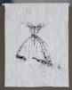 Väggbonad - Väggbonad konsttryck(30x40)insydd kanal,överkant. linnetyg med  svart konsttryck