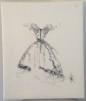 Väggbonad - Väggbonad konsttryck (70x90) canvas. Linnetyg vitt med svart konsttryck