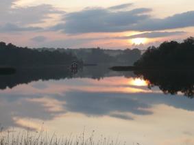 Kvälls sol över Tjörnarpssjön