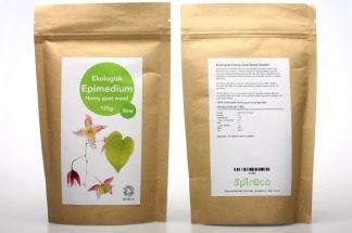 Epimedium (horny goat weed) pulver - Epimedium (horny goat weed) pulver, Raw, Eko 125g Spireco