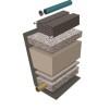 Geomembran för tät markbädd, Baga
