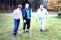 22. Ordförande Torsten Berntsen med fru och greenkeeper Anders Lund testar banan i förtid