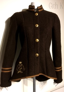 Brun uniforms jacka