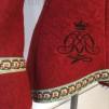 Röd luvjacka