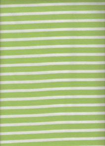Randig Trikå - Lime/vit Smal/bredrandig trikå 6mm, 13 mm 92 % Bomull 8 % elastan Bredd: 150 cm