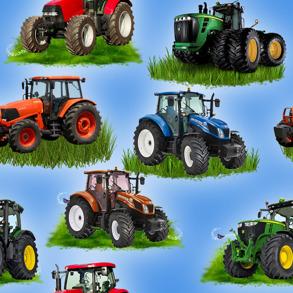 Digitaltryck - Traktor Digitaltryck 92% BOMULL 8% ELASTAN BREDD 160 cm