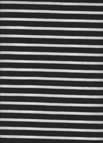 Randig Trikå - svart/vit Smal/bredrandig trikå 6mm, 13 mm