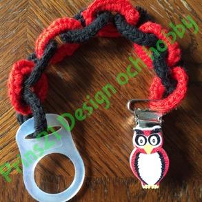 Napphållare - Napphållare röd/svart