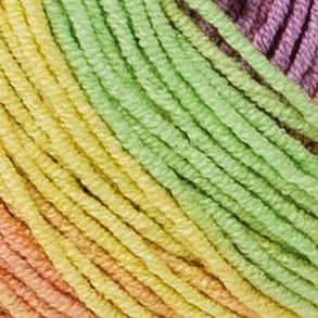 Elise Flerfärgade garn - 69012_Syren/mint/rosa batik