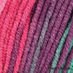 69016_Rosa/grön batik