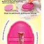 Magnetisk nåldyna - Magnetisk nåldyna rosa