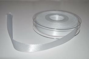 Satinband - vit 1cm bred