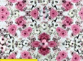 Rosa vita blommer -