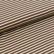 Biojersey Streifen - brun-beige