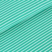 Biojersey Streifen - smaragd
